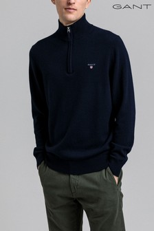 GANT Mens Superfine Lambswool Half Zip