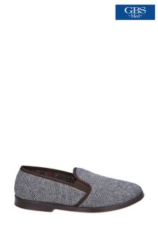 GBS Brown Stafford Twin Gusset Slippers