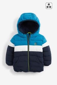 Teal Colourblock Padded Jacket (3mths-7yrs)