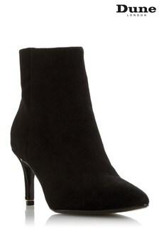 Dune London Obsessive Black Kitten Heel Pointed Toe Ankle Boots