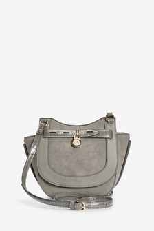 Grey Charm Saddle Bag
