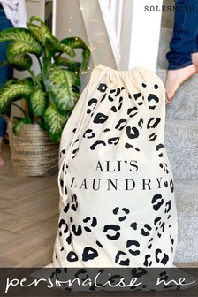 Personalised Leopard Print Laundry Bag by Solesmith