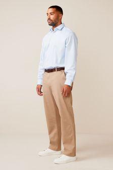 Light Blue Regular Fit Single Cuff Easy Care Shirt