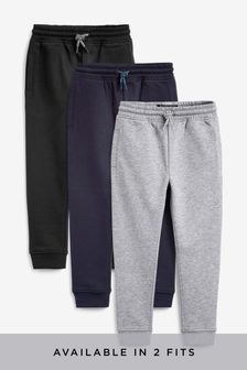 Multi Black Skinny Fit 3 Pack Joggers (3-16yrs)
