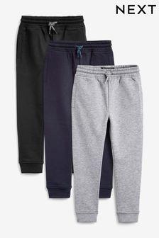 Multi Black Skinny Fit 3 Pack Joggers (3-16yrs)