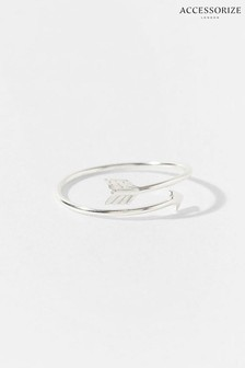 Accessorize Sterling Silver Arrow Ring