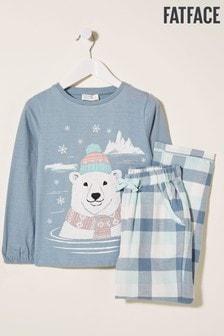 FatFace Blue Polar Jacquard Pyjama Set