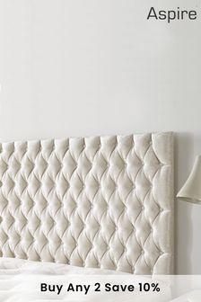 Velvet Pearl Windermere Headboard by Aspire Furniture