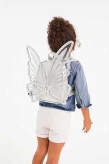 Metallic Butterfly Wings Mini Backpack