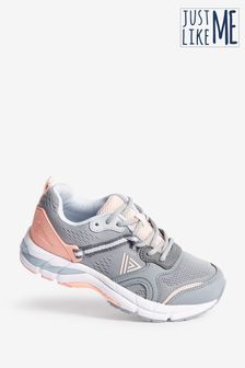 Grey/Peach V200C Active Running Trainers (Older)