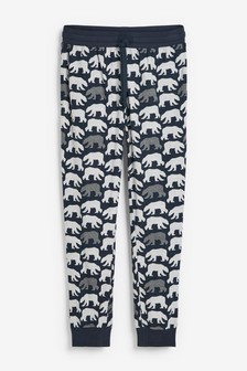 Polar Bear Cuffed Cosy Pyjama Bottoms