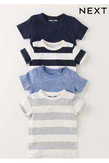 Blue 4 Pack T-Shirts (3mths-6yrs)