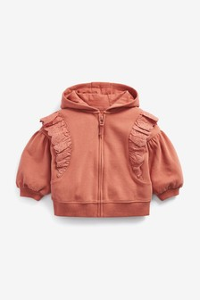 Rust Hoody Soft Touch Jersey (3mths-7yrs)