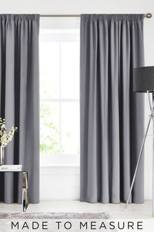 Imogen Graphite Grey Made To Measure Curtains