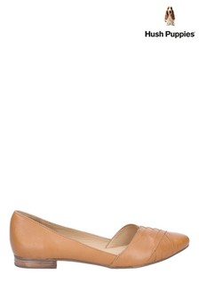 Hush Puppies Tan Marley Ballerina Slip-On Shoes