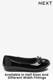 Black Patent Standard Fit (F) Leather Ballet Shoes