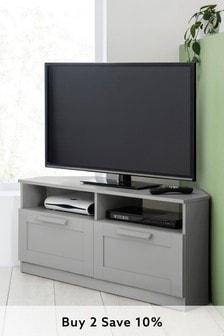 Grey Flynn Corner TV Stand