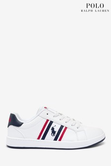 Polo Ralph Lauren White Oaklynn Trainers