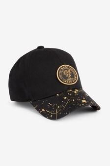 Black/Gold Splat Cap (Older)