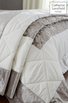 Lattice Cut Velvet Bedspread by Catherine Lansfield