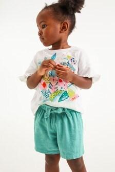White Tropical Print T-Shirt (3mths-7yrs)