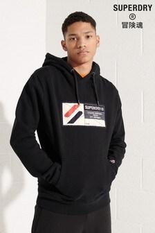 Superdry Sport Black Jock Tag Hoody