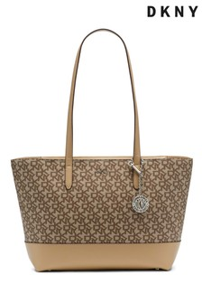 DKNY Brown Bryant Logo Tote Bag