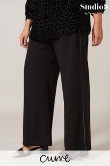 Studio 8 Black Lesley Side Detail Trousers