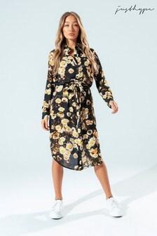 Hype. Womens Multi Daisy Love Shirt Dress