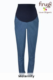 Frugi Chambray Cotton Over Bump  Maternity Trousers