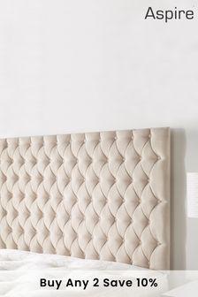 Beige Windermere Headboard by Aspire Furniture