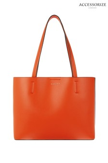 Accessorize Orange Leo Shopper Bag