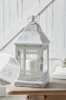 White Washed Lantern