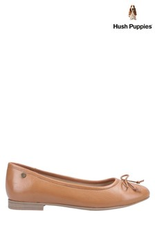 Hush Puppies Tan Naomi Slip-On Ballet Pumps