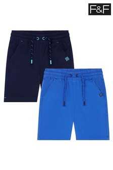 F&F Navy Woven Shorts 2 Pack