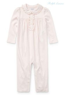 Ralph Lauren Pink Logo Babygrow