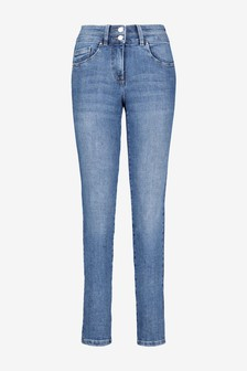 Mid Blue Lift, Slim And Shape Slim Jeans