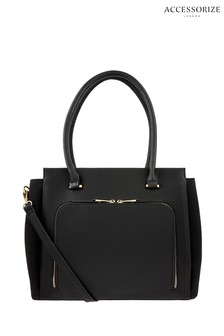 Accessorize Black Morgan Work Tote Bag