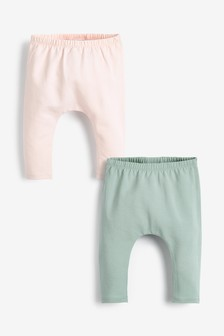 Pink/Mint 2 Pack Ruffle Leggings (0mths-3yrs)