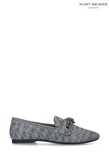 Kurt Geiger London Grey Chelsea Fabric Loafers