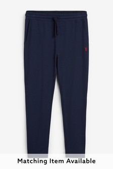 Navy Slim Open Joggers Lightweight