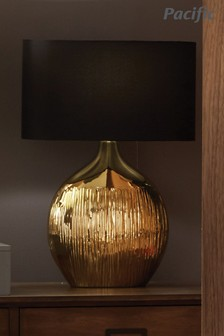 Gemini Etched Ceramic Table Lamp by Pacific