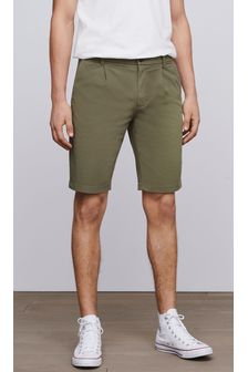 Khaki Smart Slim Fit Stretch Chino Shorts
