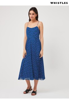 Whistles Kinectic Floral Print Midi Dress