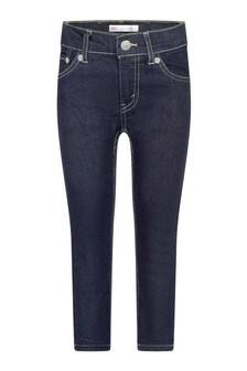 510™ Boys Dark Blue Cotton Skinny Jeans