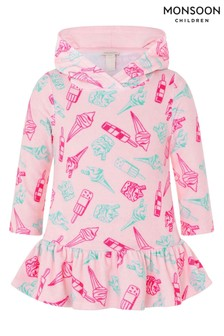 Monsoon Baby Nina Ice Cream Towelling Cardigan