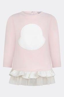 Baby Girls Light Pink Cotton Logo Dress