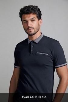 Dark Navy Smart Collar Polo Shirt