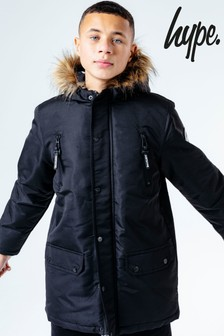 Hype. Parka Jacket With Faux Fur Hood
