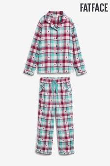 FatFace Green Star Check Classic Pyjama Set